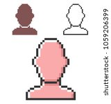 pixel icon of  male user... | Shutterstock . vector #1059206399