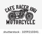 monochrome cafe racer... | Shutterstock .eps vector #1059210341