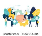 business concept vector... | Shutterstock .eps vector #1059216305