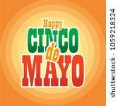cinco de mayo lettering... | Shutterstock .eps vector #1059218324