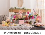 baby shower party and cake ... | Shutterstock . vector #1059220337