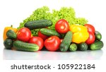 fresh vegetables isolated on... | Shutterstock . vector #105922184