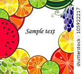 fruits frame with space for... | Shutterstock . vector #105922217