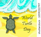 world turtle day 23rd of may.... | Shutterstock .eps vector #1059222797