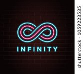 infinity logo creative concept...   Shutterstock .eps vector #1059223535