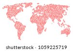 global geography pattern map... | Shutterstock .eps vector #1059225719