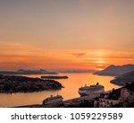cruise cruiser in dubrovnik...   Shutterstock . vector #1059229589