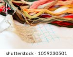 cross stitch embroidery  close... | Shutterstock . vector #1059230501