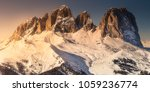 mountain landscape and spine... | Shutterstock . vector #1059236774