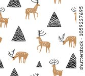 baby seamless pattern with hand ... | Shutterstock .eps vector #1059237695