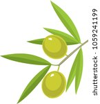 branch of olive tree with green ... | Shutterstock .eps vector #1059241199