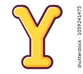 letter y of the english... | Shutterstock .eps vector #1059241475