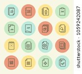 document icon in trendy line... | Shutterstock .eps vector #1059242087