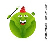 kid wizard cabbage character.... | Shutterstock .eps vector #1059242834