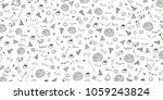 pizza pattern. pizza background ...   Shutterstock .eps vector #1059243824