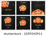 set of pizza food menu for... | Shutterstock .eps vector #1059243911