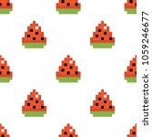 pixel watermelon slices vector... | Shutterstock .eps vector #1059246677