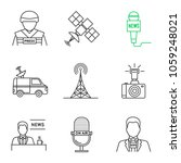 mass media linear icons set.... | Shutterstock .eps vector #1059248021