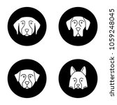 dogs breeds glyph icons set.... | Shutterstock .eps vector #1059248045