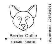 border collie linear icon....   Shutterstock .eps vector #1059248051