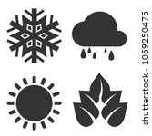 four seasons icon.weather... | Shutterstock .eps vector #1059250475