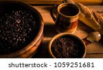 coffee  grounds  beans  and a...   Shutterstock . vector #1059251681