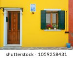 burano colorful historical... | Shutterstock . vector #1059258431