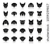 dogs breeds drop shadow black... | Shutterstock .eps vector #1059259817