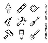 construction   tools icon set | Shutterstock .eps vector #1059260264