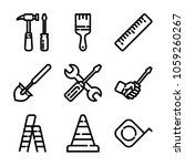 construction   tools icon set | Shutterstock .eps vector #1059260267