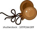 castanets on white background   Shutterstock .eps vector #1059266189