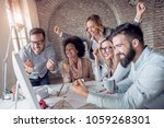creative business team working... | Shutterstock . vector #1059268301