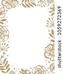 flower frame template for... | Shutterstock .eps vector #1059272369