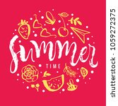 summer time. watermelon ... | Shutterstock .eps vector #1059272375