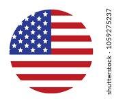 usa flag. vector | Shutterstock .eps vector #1059275237