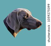 pointer low poly design.... | Shutterstock .eps vector #1059275399