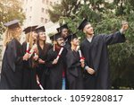 a group of multietnic students... | Shutterstock . vector #1059280817