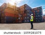 foreman control loading... | Shutterstock . vector #1059281075