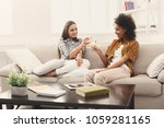 friends toasting with... | Shutterstock . vector #1059281165