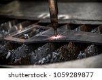 plasma cutting metalwork... | Shutterstock . vector #1059289877