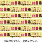 cute bear wrapper design   Shutterstock .eps vector #105929261