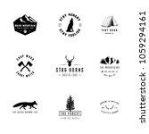 rustic logos   set of 9 rustic... | Shutterstock .eps vector #1059294161