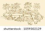 past biblic babel aged jungle... | Shutterstock .eps vector #1059302129