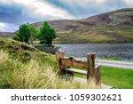 wooden bench at loch lee  angus ...   Shutterstock . vector #1059302621