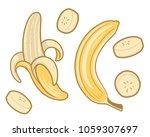banana fruit set vector... | Shutterstock .eps vector #1059307697