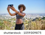fit african american woman... | Shutterstock . vector #1059309875