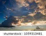 beautiful cloudy sky at the... | Shutterstock . vector #1059313481