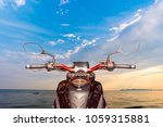 the view over the handlebars of ...   Shutterstock . vector #1059315881