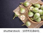 top view fresh green thai... | Shutterstock . vector #1059318641
