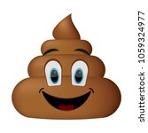 shit icon  smiling faces  poop... | Shutterstock .eps vector #1059324977